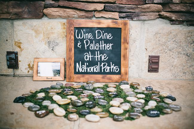 National Park escort card rocks-B. Lovely Events