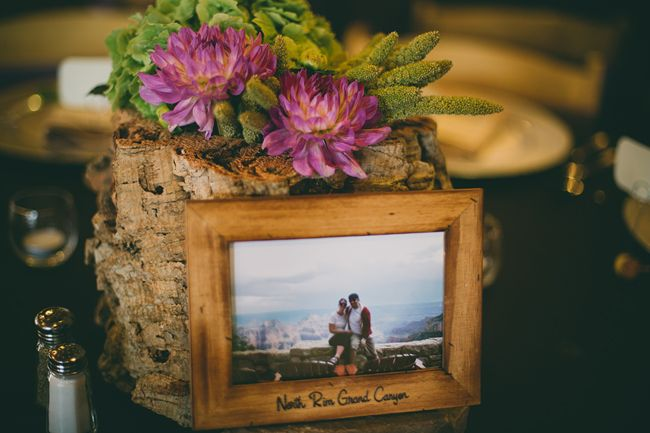 national park wedding table numbers-B. Lovely Events