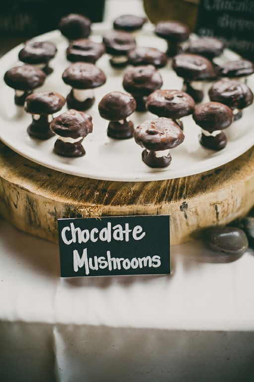 Chocolate dessert mushrooms-B. Lovely Events