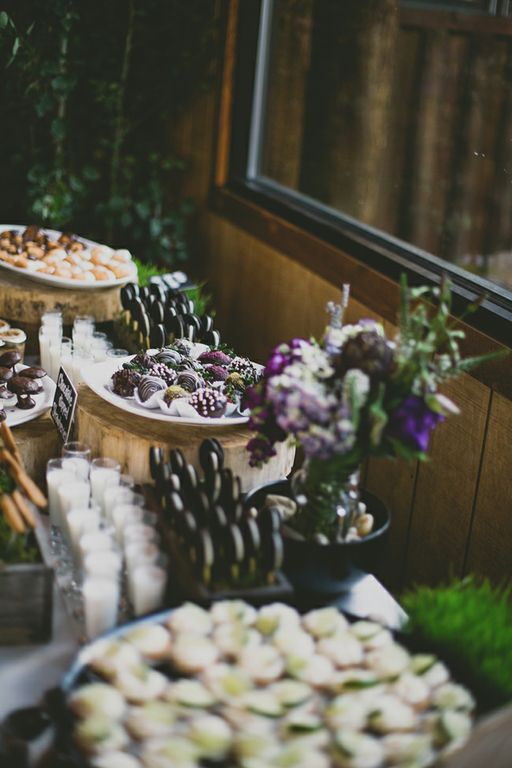 Rustic Outdoors inspired dessert bar-B. Lovely Events