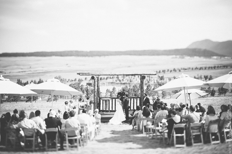 Outdoor wedding Ceremony with Umbrellas- B. Lovely Events