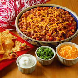 Football Bean dip for super bowl party- blovelyevents.com