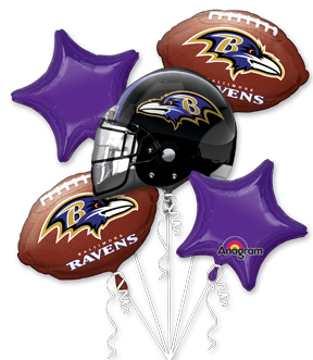 Baltmore Raven balloon set-blovelyevents.com