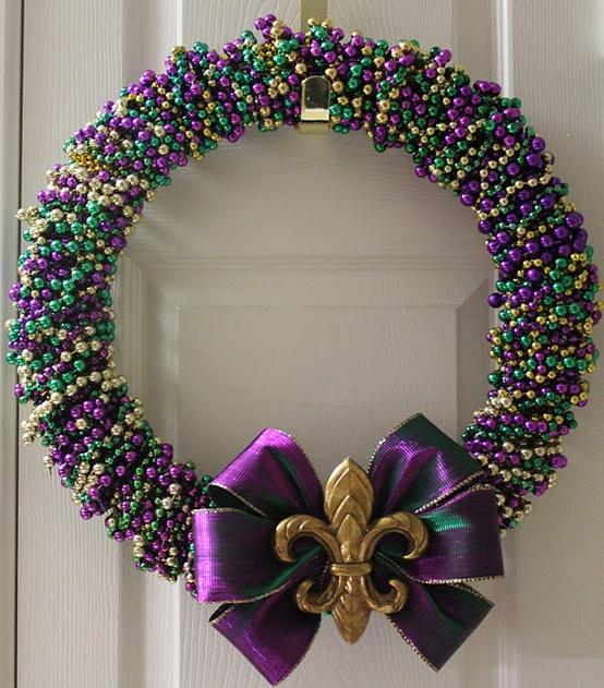 Mardi Grad Bead Wreath