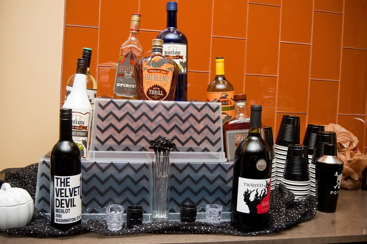 Halloween Party Custom drink station- B. Lovely Events