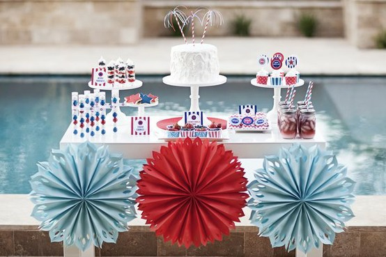 4th Of July Ideas & Inspiration- Lovely 4th Of July Pool Party!-  See More Ideas On B. Lovely Events
