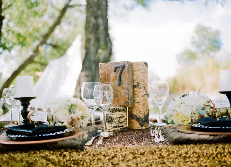 Rustic glam table number