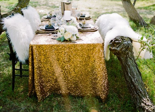 Rustic Glam gorgeous wedding tablescape