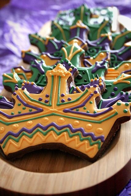 Crown Mardi Gras Cookies