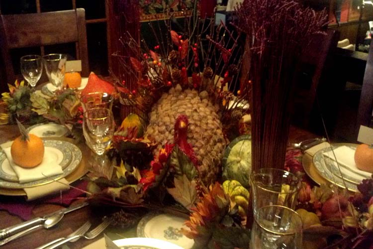 Turkey centerpiece decor, Thanksgiving table-B. Lovely Events