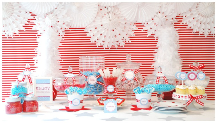 4th Of July Ideas & Inspiration- Fun 4th Of July Dessert Table!-  See More Ideas On B. Lovely Events