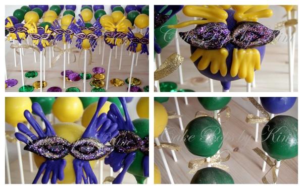 Mardi Gras Cake pop
