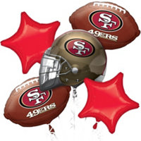 San Francisco 49er party balloons-blovelyevents.com