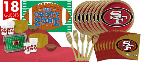 San Francisco 49er party set-blovelyevents.com