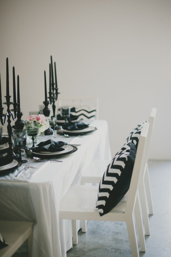 White and Black Table Scape