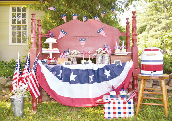 4th Of July Ideas & Inspiration- Lovely 4th Of July Dessert Table!-  See More Ideas On B. Lovely Events