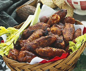 spicy-bbq-chicken-wings, free recipe-blovelyevents.com