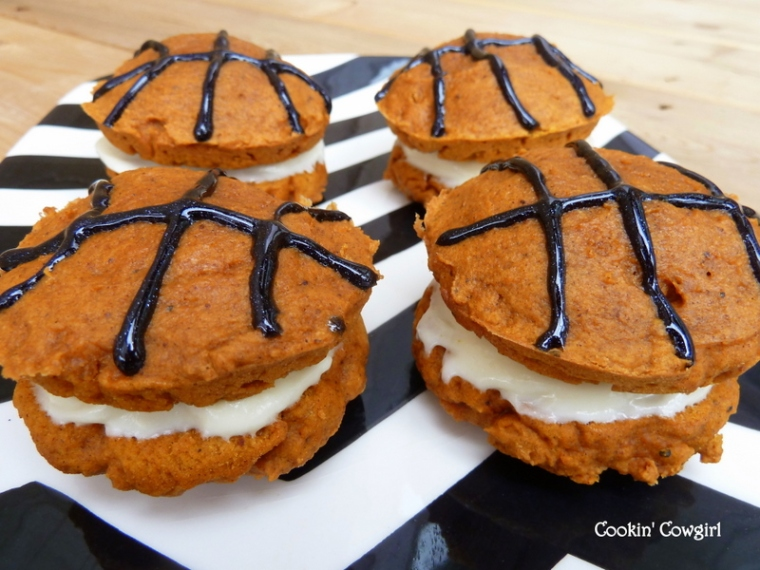 Basketball whoopie pies stripes march madness