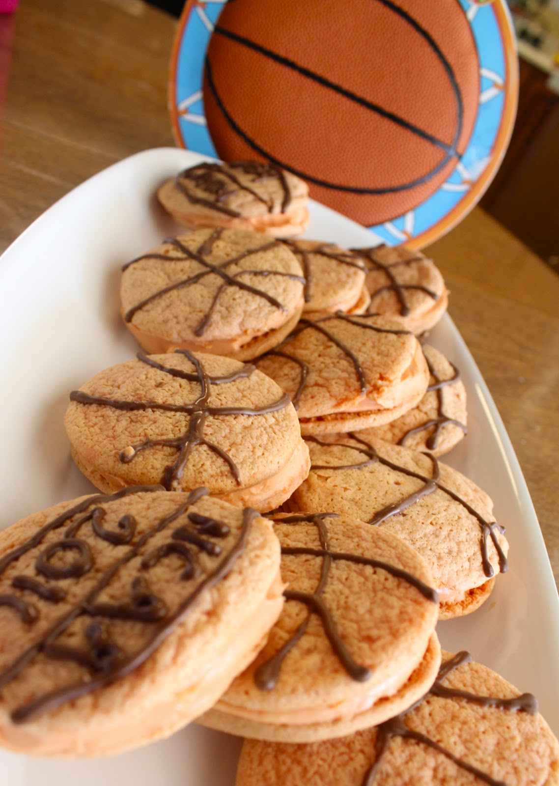 DIY Basketball whoopie pies