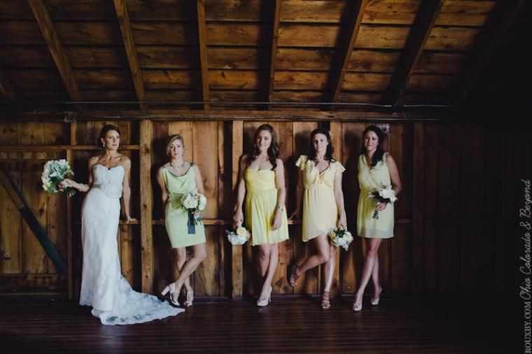 Bridal party shot at wedding