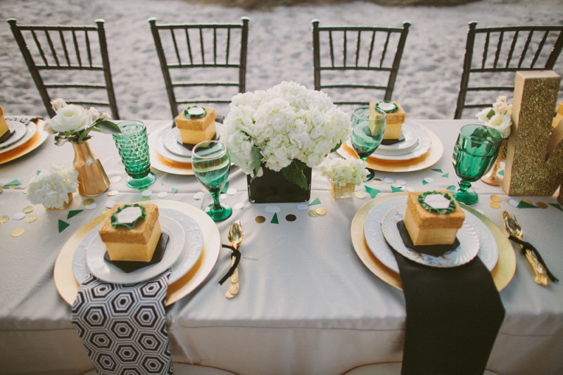 Emerald-Green-and-Gold-Engagement-Party-Inspiration