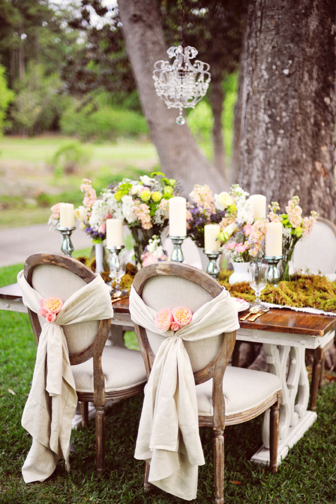 european style, vintage, shabby chic wedding table