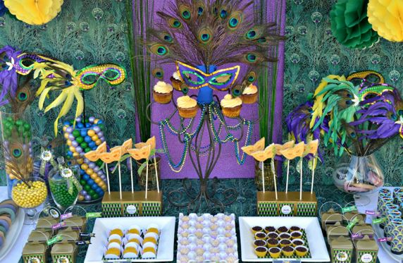 Mardi Gras Dessert table