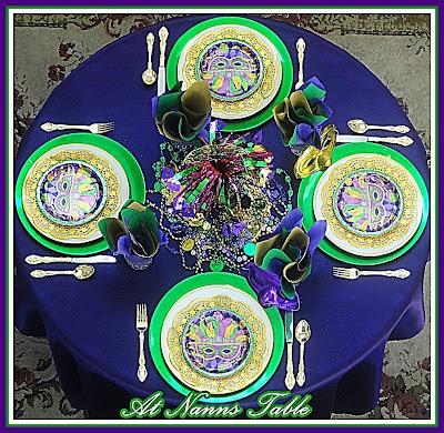 Mardi Gras Tablescape