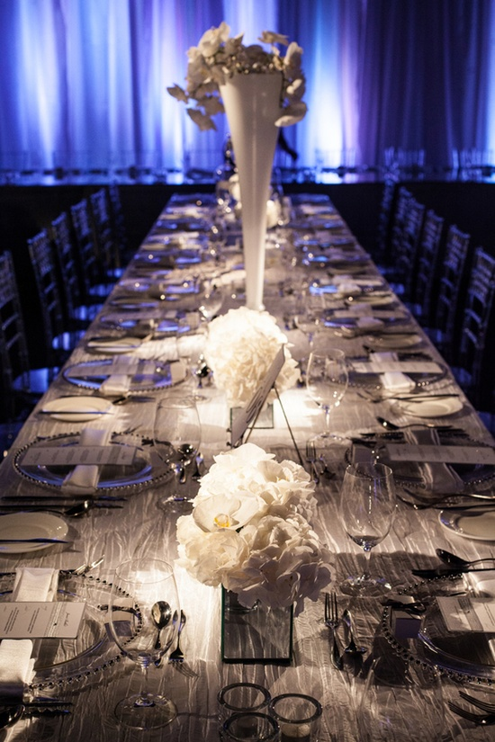 Modern, Chic Wedding table