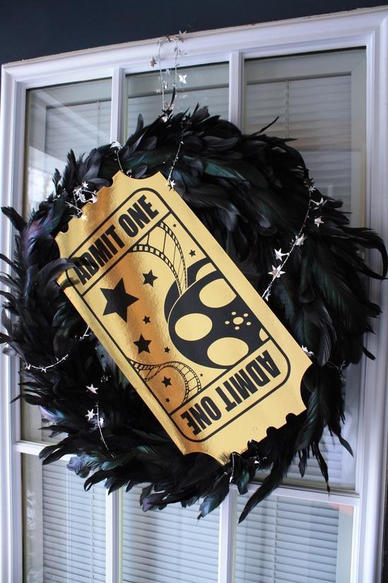 Movie, Oscar Party Wreath