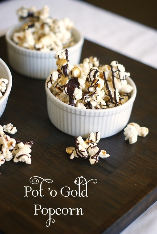 Chocolate drizzled popcorn-blovelyevents.com