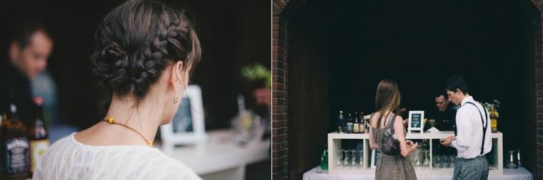 custom bar at wedding