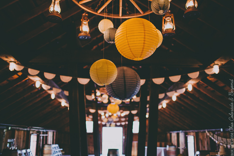 lanterns and doily bunting for wedding-blovelyevents.com