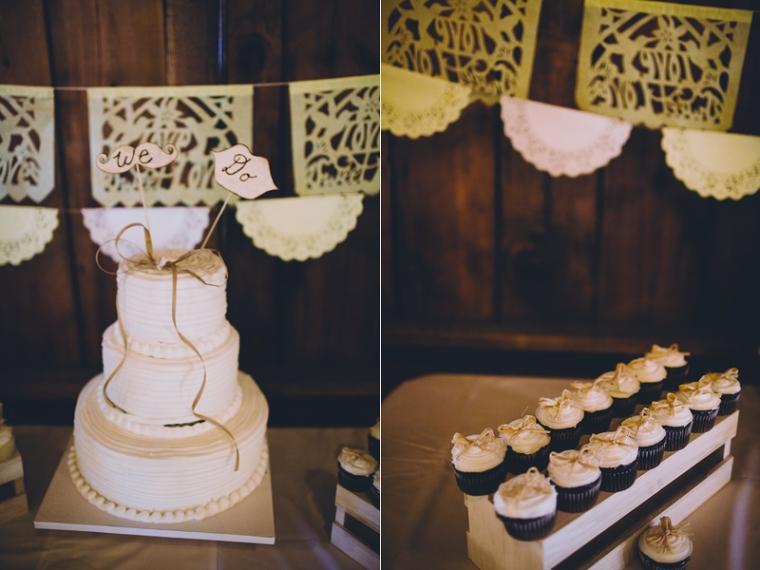 White wedding cake for barn wedding