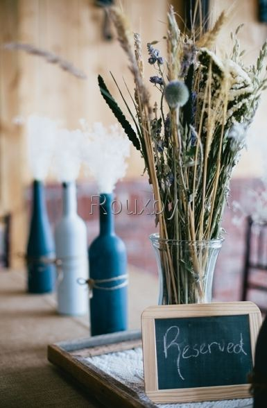 rustic centerpieces for barn wedding-B. Lovely Events