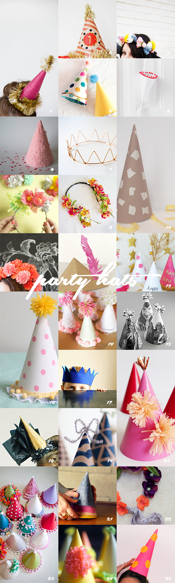 25 different ways to do Party Hats