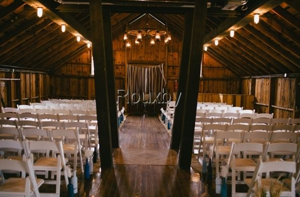 Rustic Barn Wedding aisle-B. Lovely Events