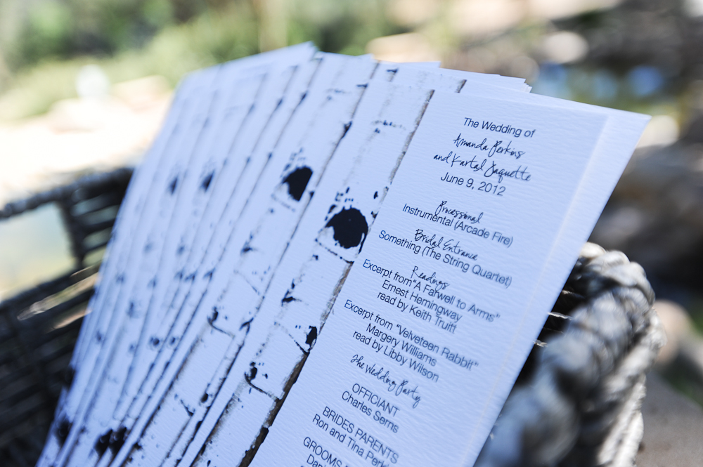Birch Bark Wedding Programs Real Wedding-B. Lovely Events