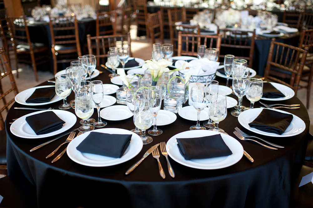Black and White wedding details-B. Lovely Events