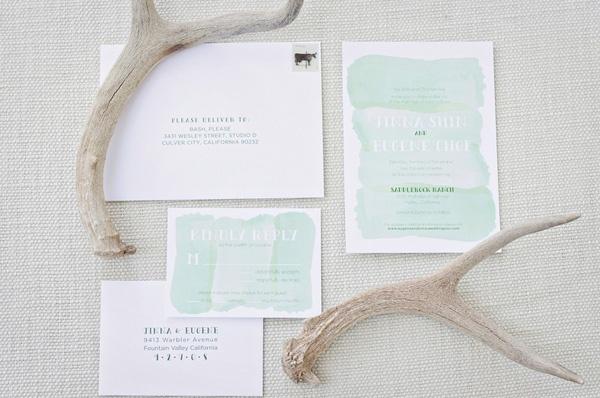 Beautiful Watercolor wedding invitations