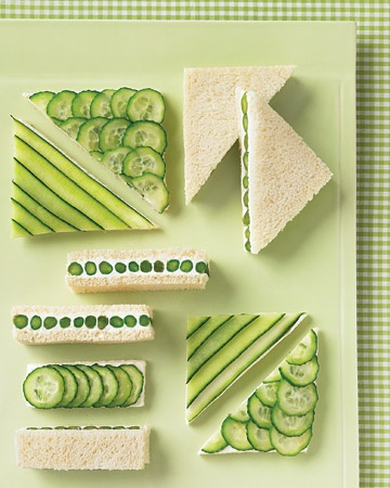 Cucumber lunch St. Patrick's Day