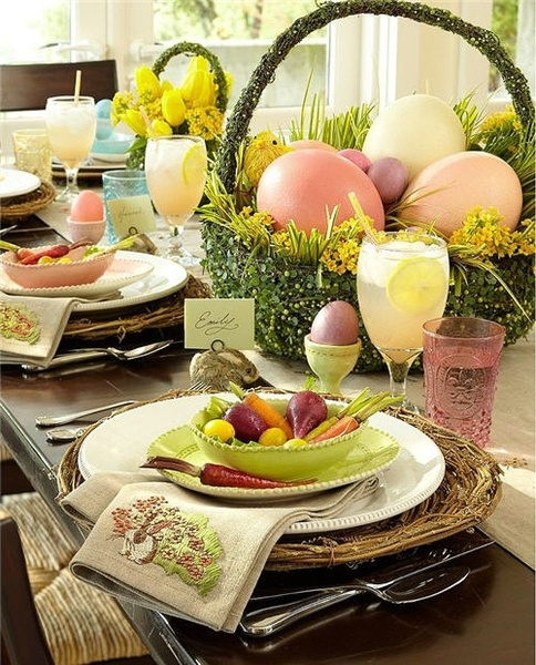 Easter brunch table setting