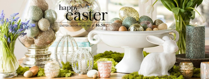 Easter decor at Pottery Barn