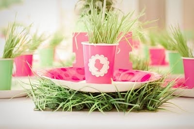 Easter Grass Centerpiece
