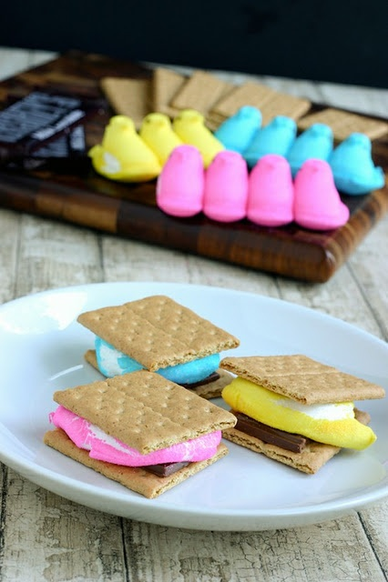 Easter Peeps Smores