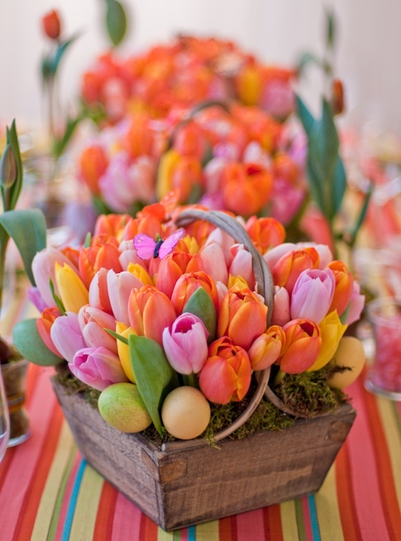 Easter Tulip basket