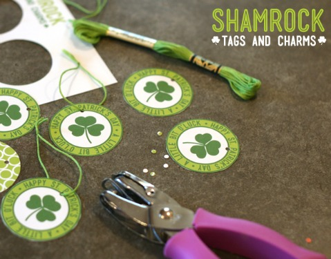 free printable shamrock tags and charms