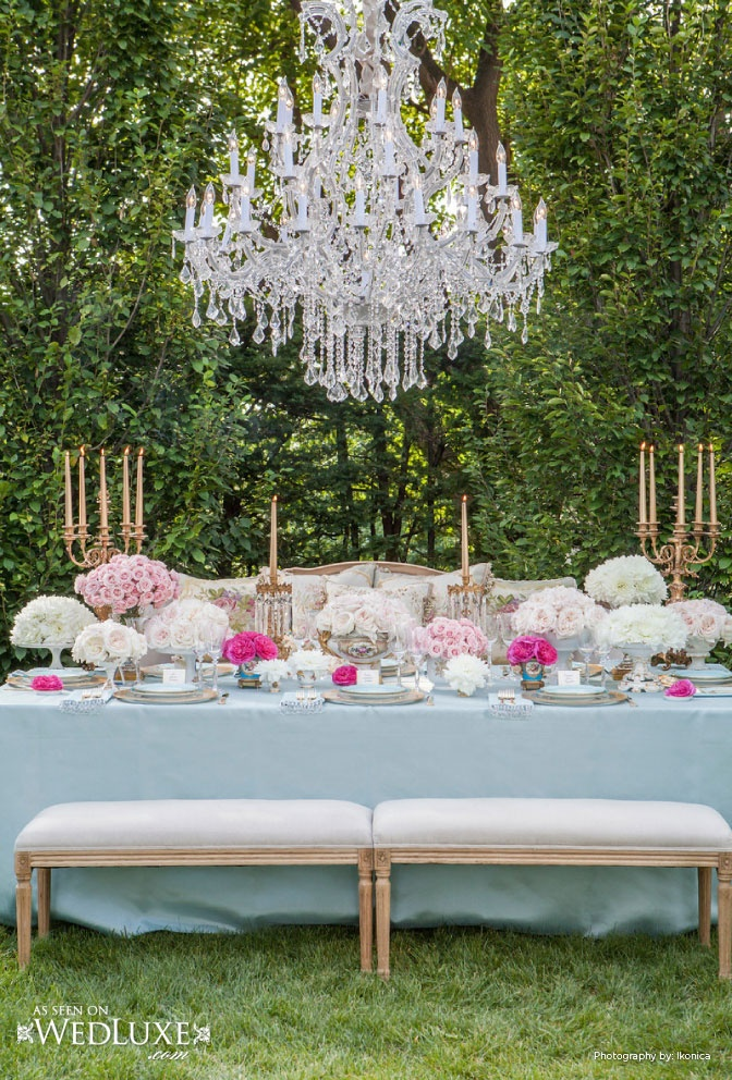 Gorgeous vintage french inspired tablescape