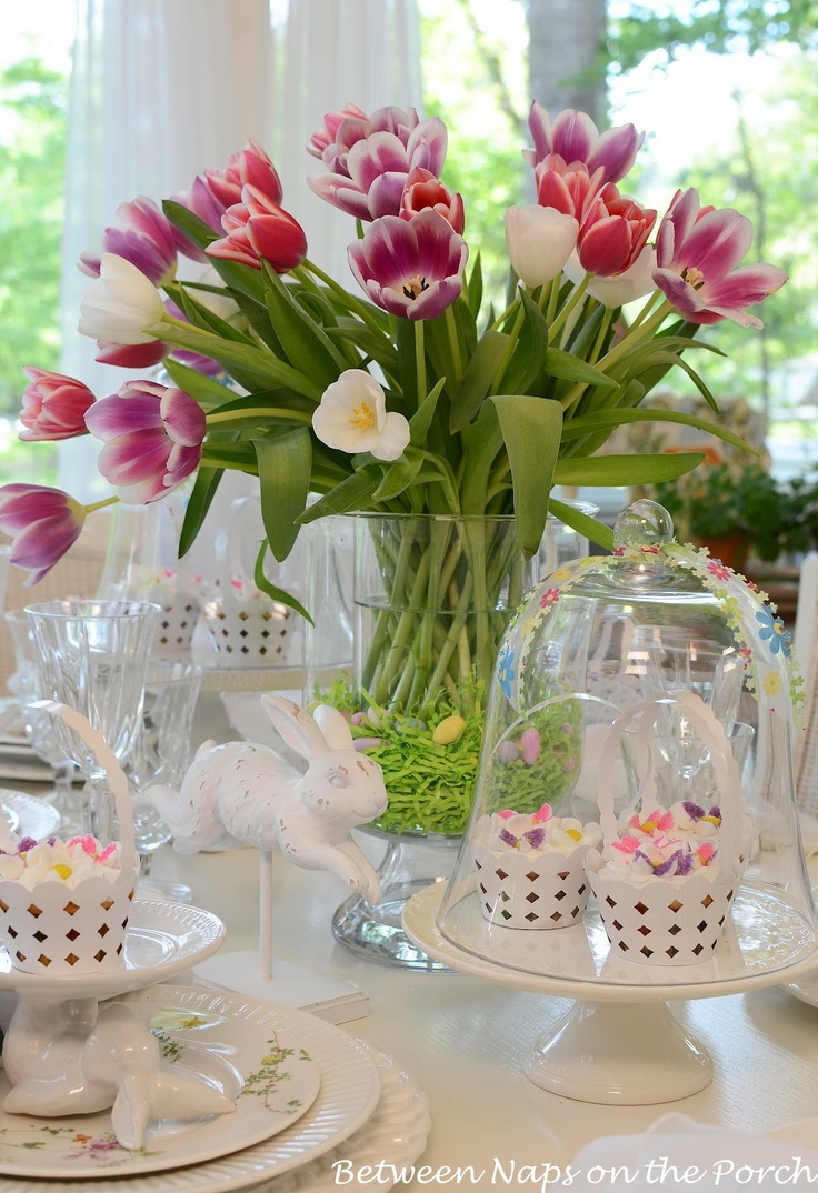 Large Tulip Centerpiece for Easter