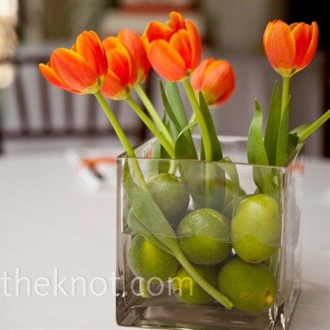 limes and tulips for Easter